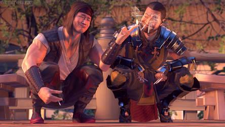 Scorpion and Liu Kang