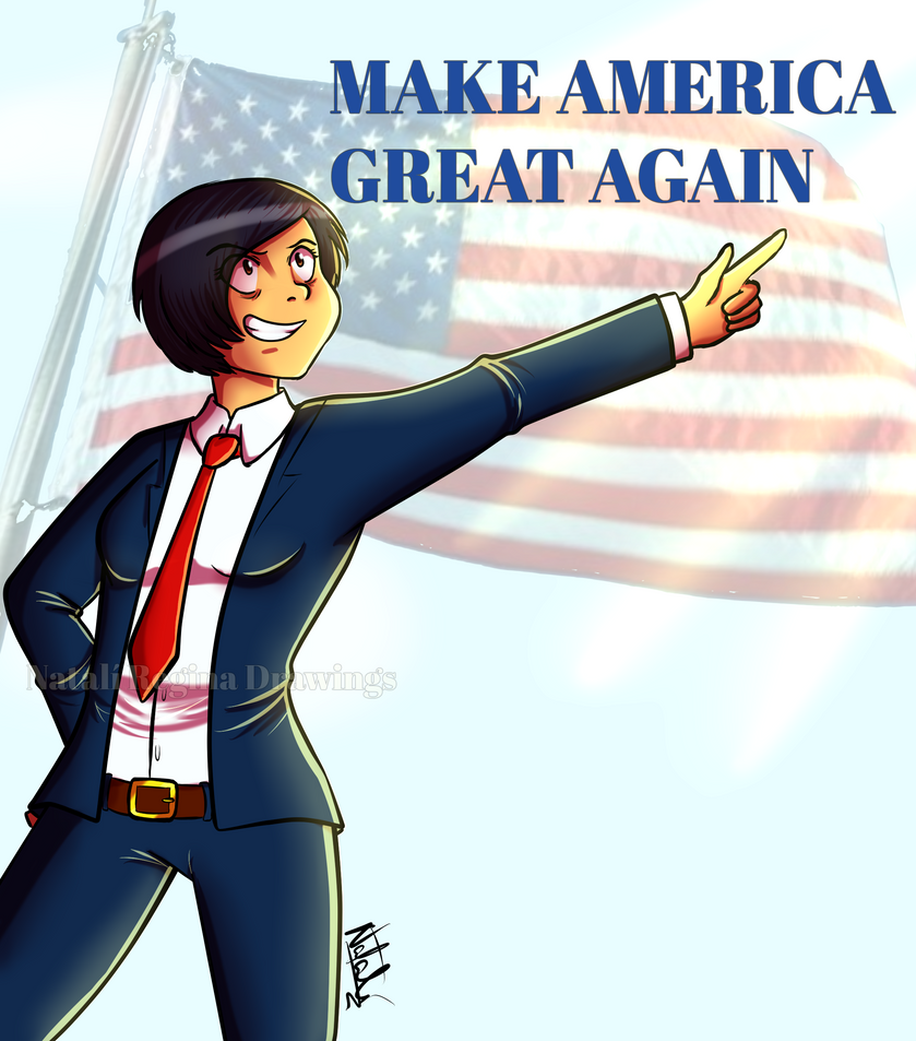 Make america great again by mujer8 on deviantart for Make america great again wallpaper