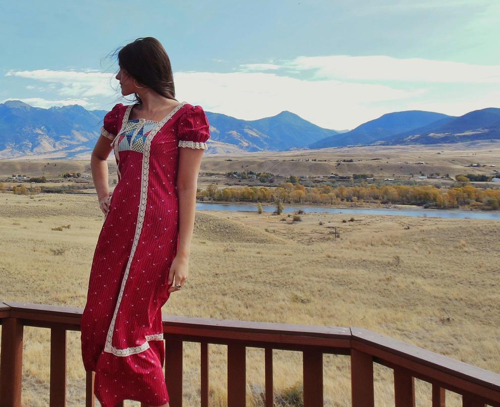 Modern Prairie Girl by Gypsyja-stock