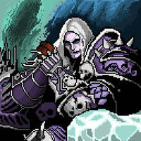 Lich King Pixel Art   sylavari