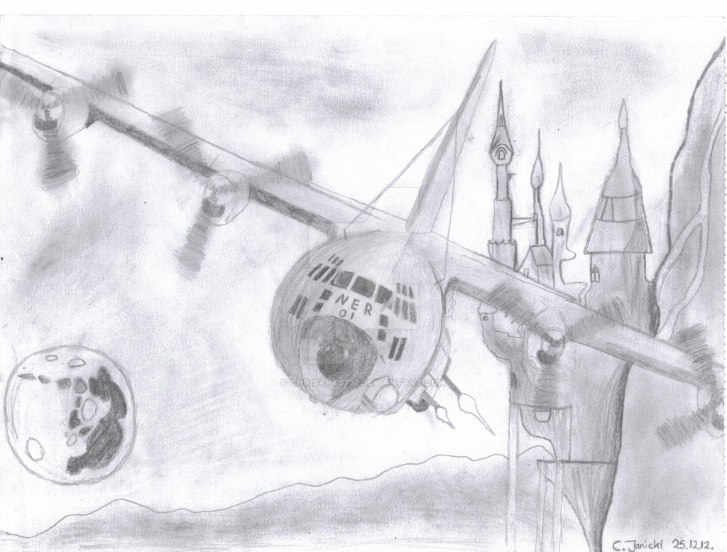 AC-130 Over Canterlot by ChrisArts777