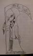 Little Miss Death Sketch by goldenbowtie