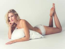 Blonde in White Panties by janlykke