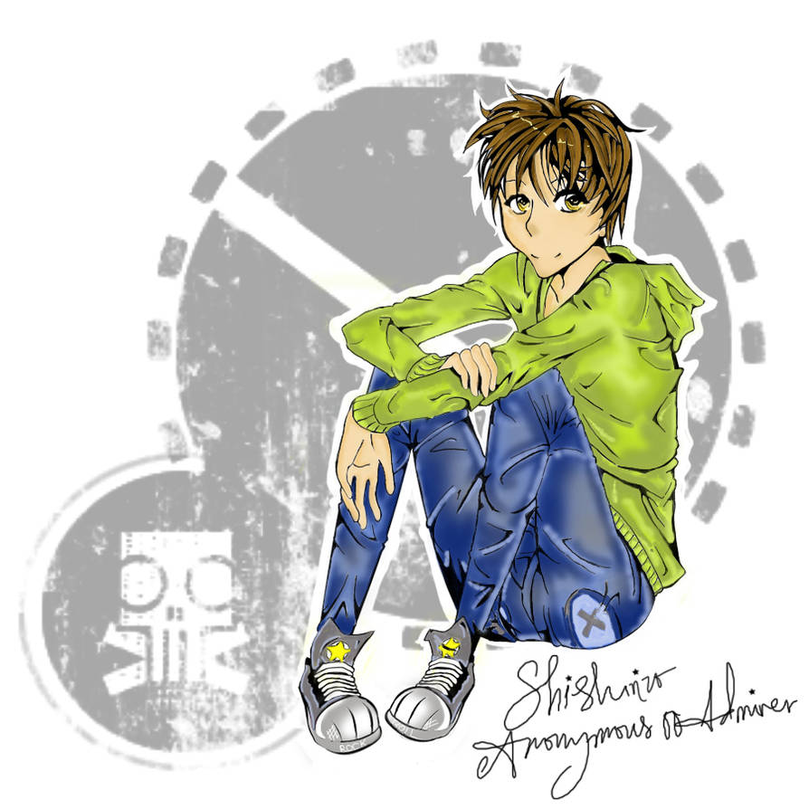 Sitting Boy Colored Version by Anonymous00Admirer