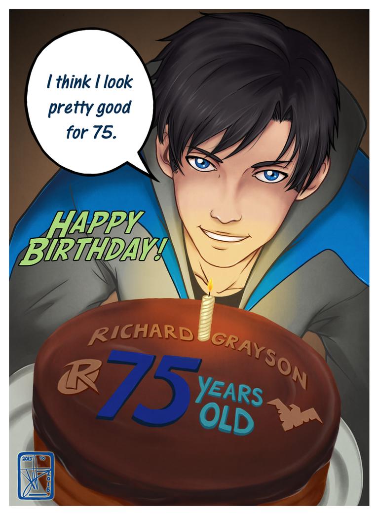 Happy birthday Dick Grayson! by BurningArtist
