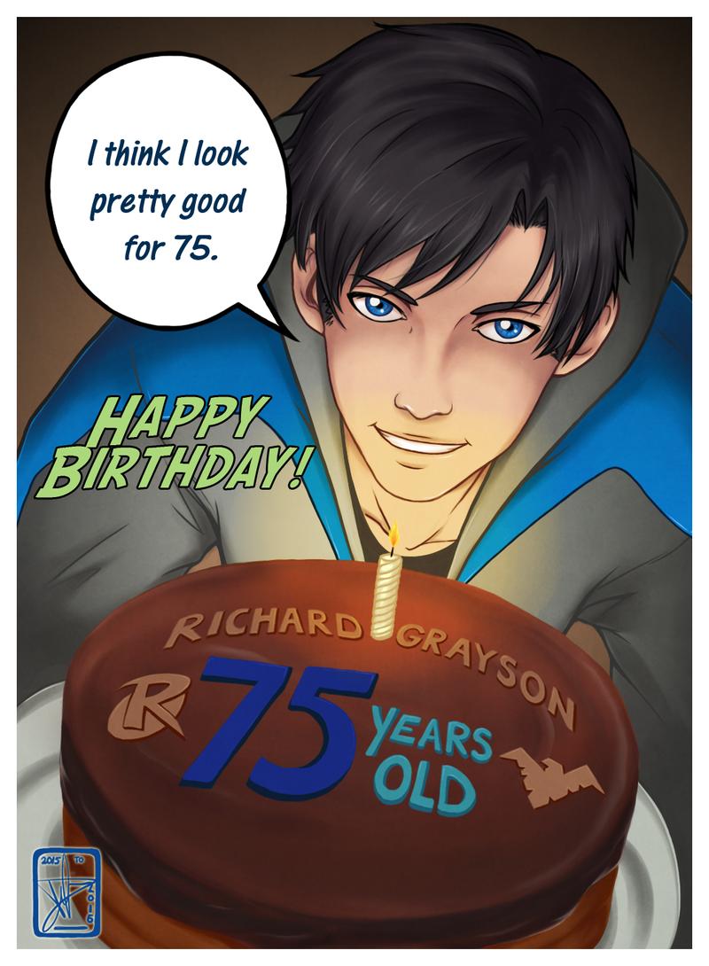 نتیجه تصویری برای dick grayson birthday