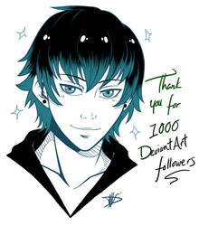 Thank you for 1000 Followers by BurningArtist