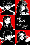 Persona 5 Twitter Icons X5 by BurningArtist