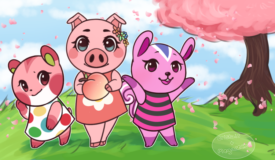Birthday Gift || Pink Villagers by cristais on DeviantArt