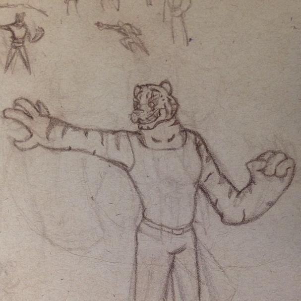 Tiger Villain sketch by GaymerJosh