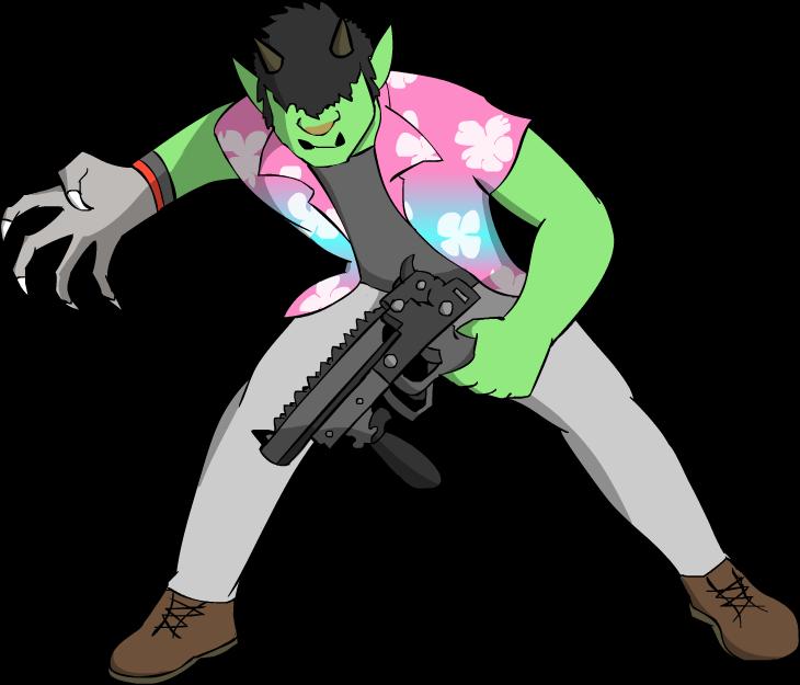 Shadowrun Troll Combat Decker by GaymerJosh