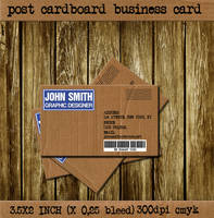 Post Cardboard Business Card by CaCaDoo