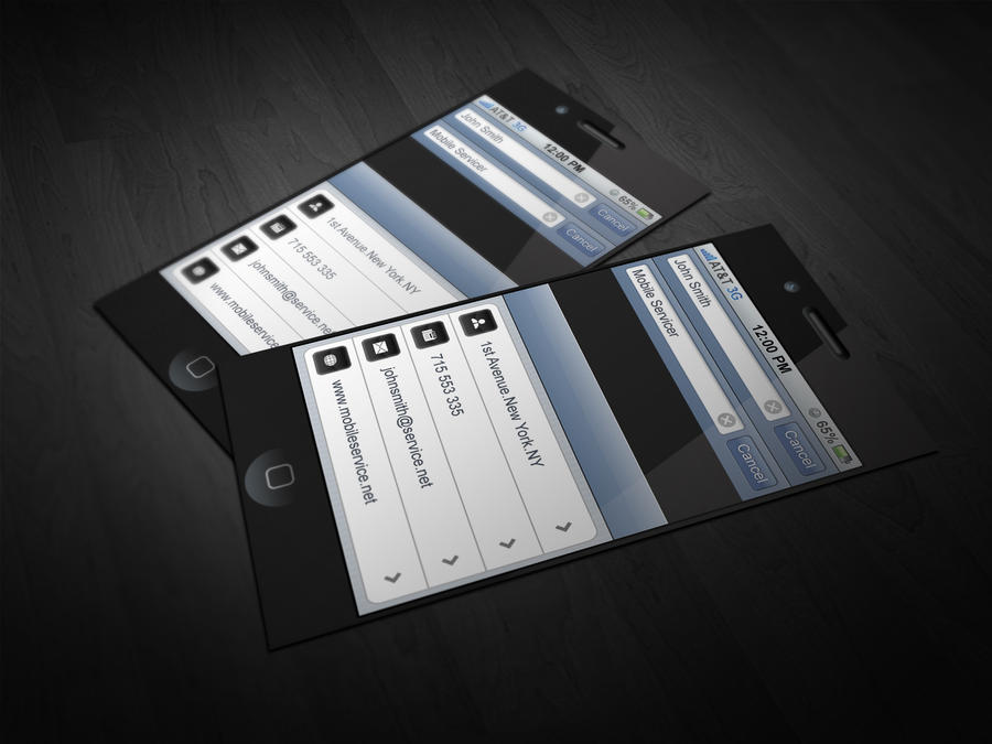 Iphone business card by cacadoo on deviantart for Business card iphone app