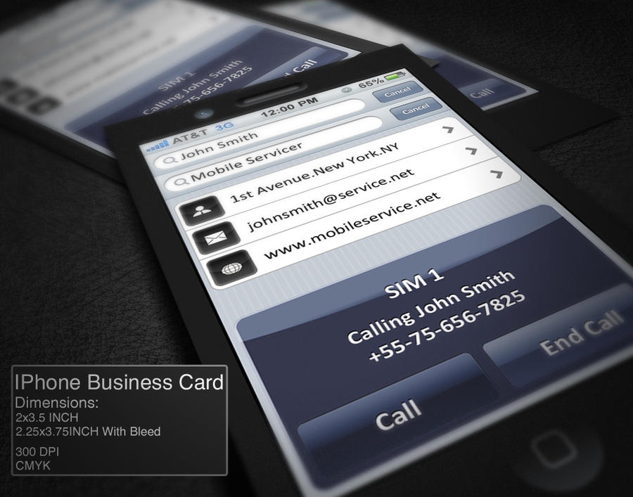 IPhone Business Card by CaCaDoo on DeviantArt
