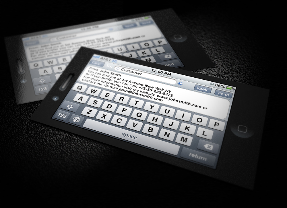 IPhone SMS Business Card by CaCaDoo on DeviantArt