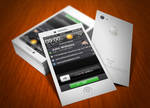 iPhone Business Card White