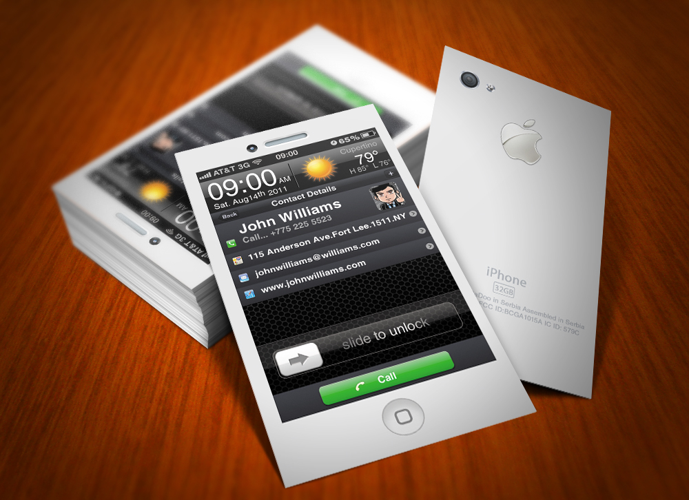 iPhone Business Card White by CaCaDoo on DeviantArt