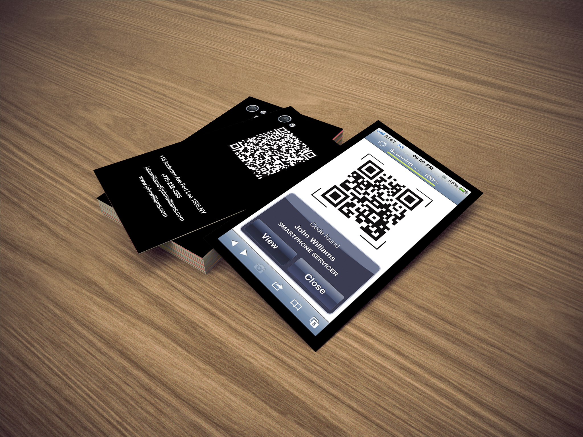 iPhone Business Card QR by CaCaDoo on DeviantArt