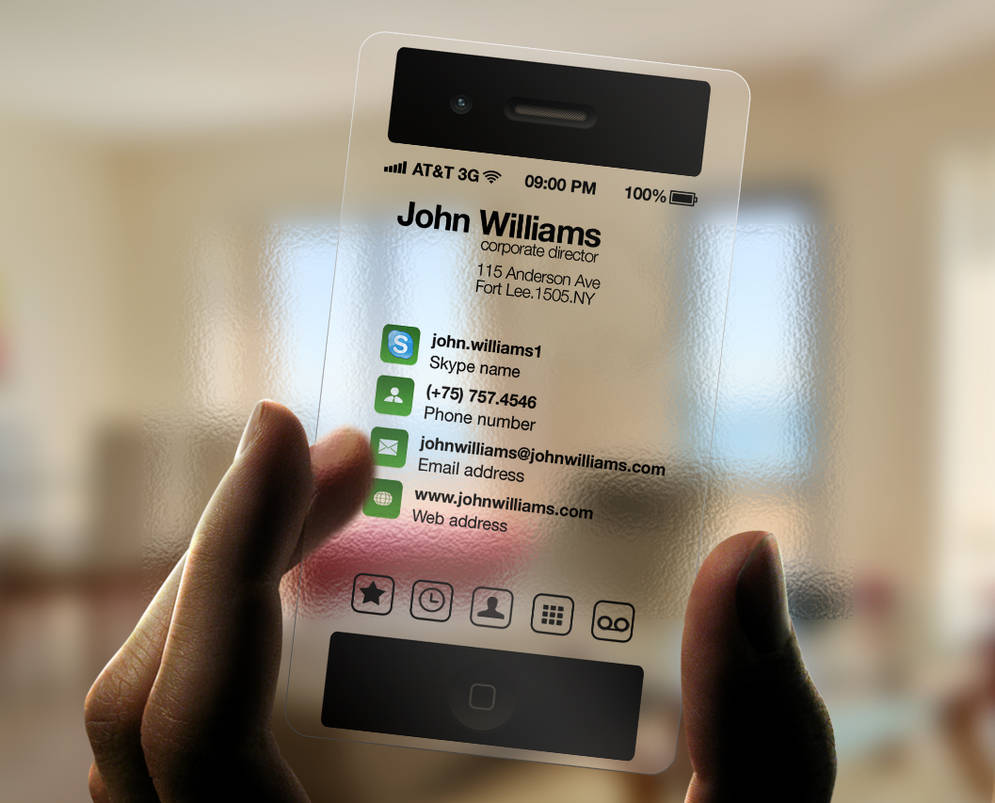 iPhone Business Card Transparent by CaCaDoo