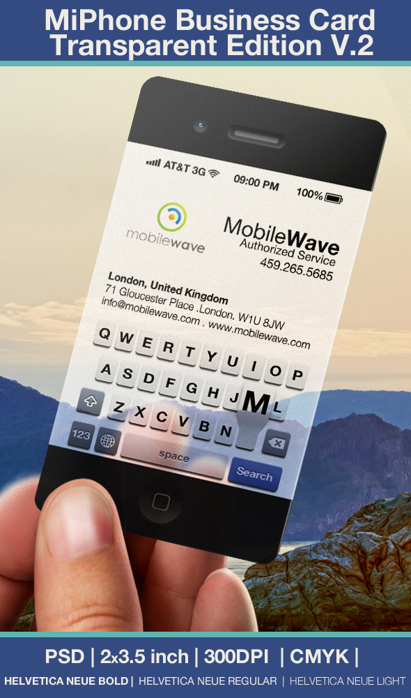 Iphone Business Card Transparent Edition V.2 by CaCaDoo on DeviantArt