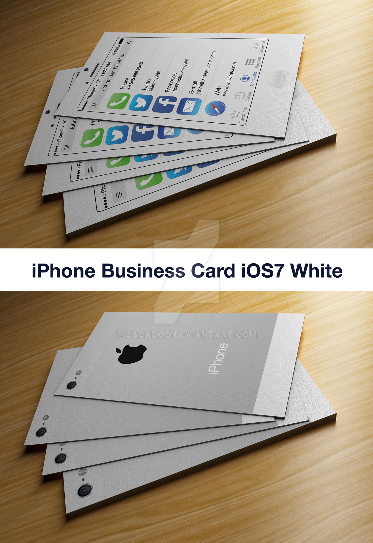 IPhone Business Card iOS7 White by CaCaDoo on DeviantArt