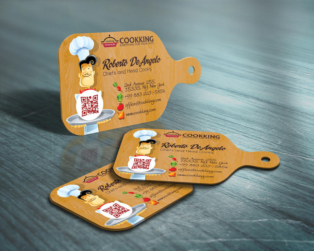 Chef Cook Business Card by CaCaDoo