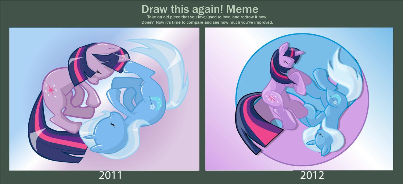 Draw this again Meme: Two Sides by Dekomaru