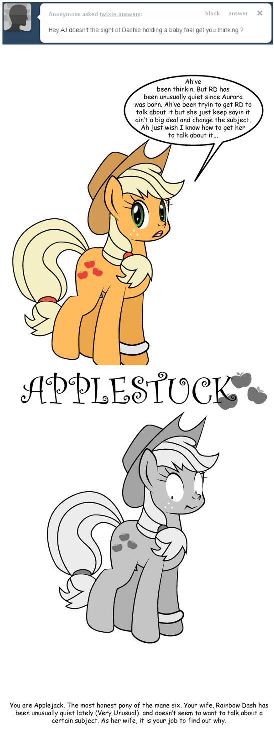 Ask Twixie Tumblr: Applestuck #1 by Dekomaru