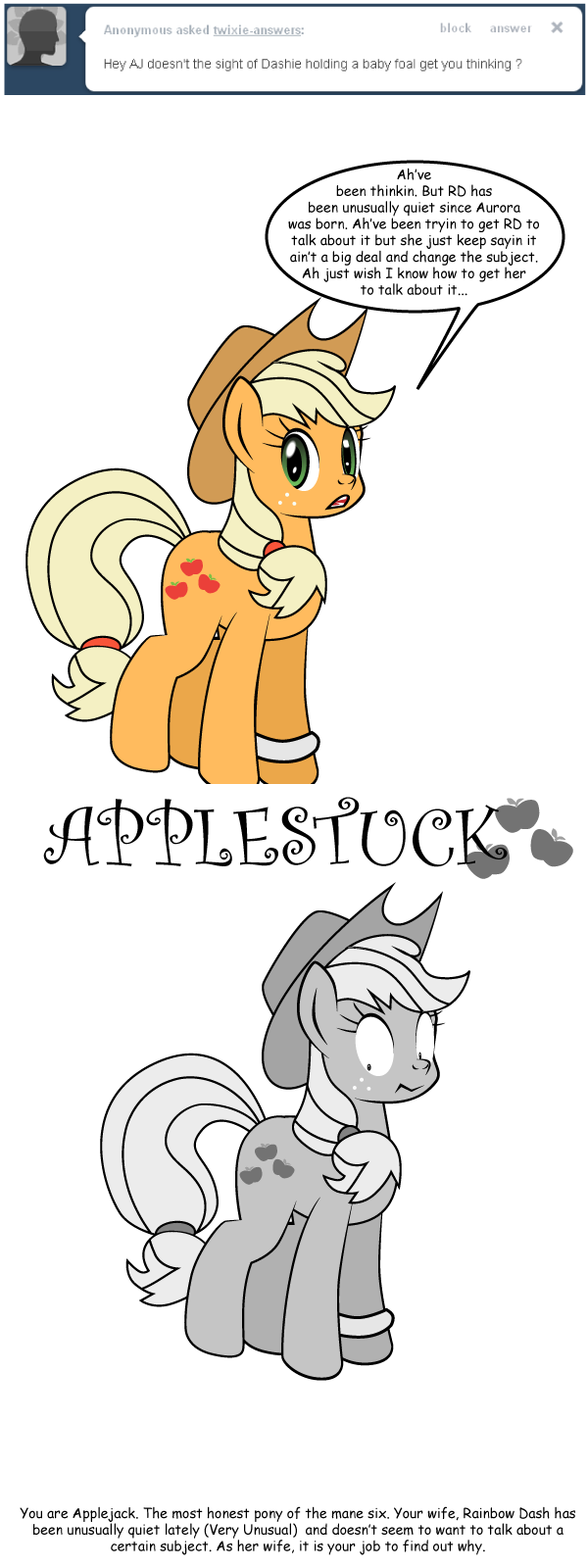 Ask Twixie Tumblr: Applestuck #1 by Dekomaru