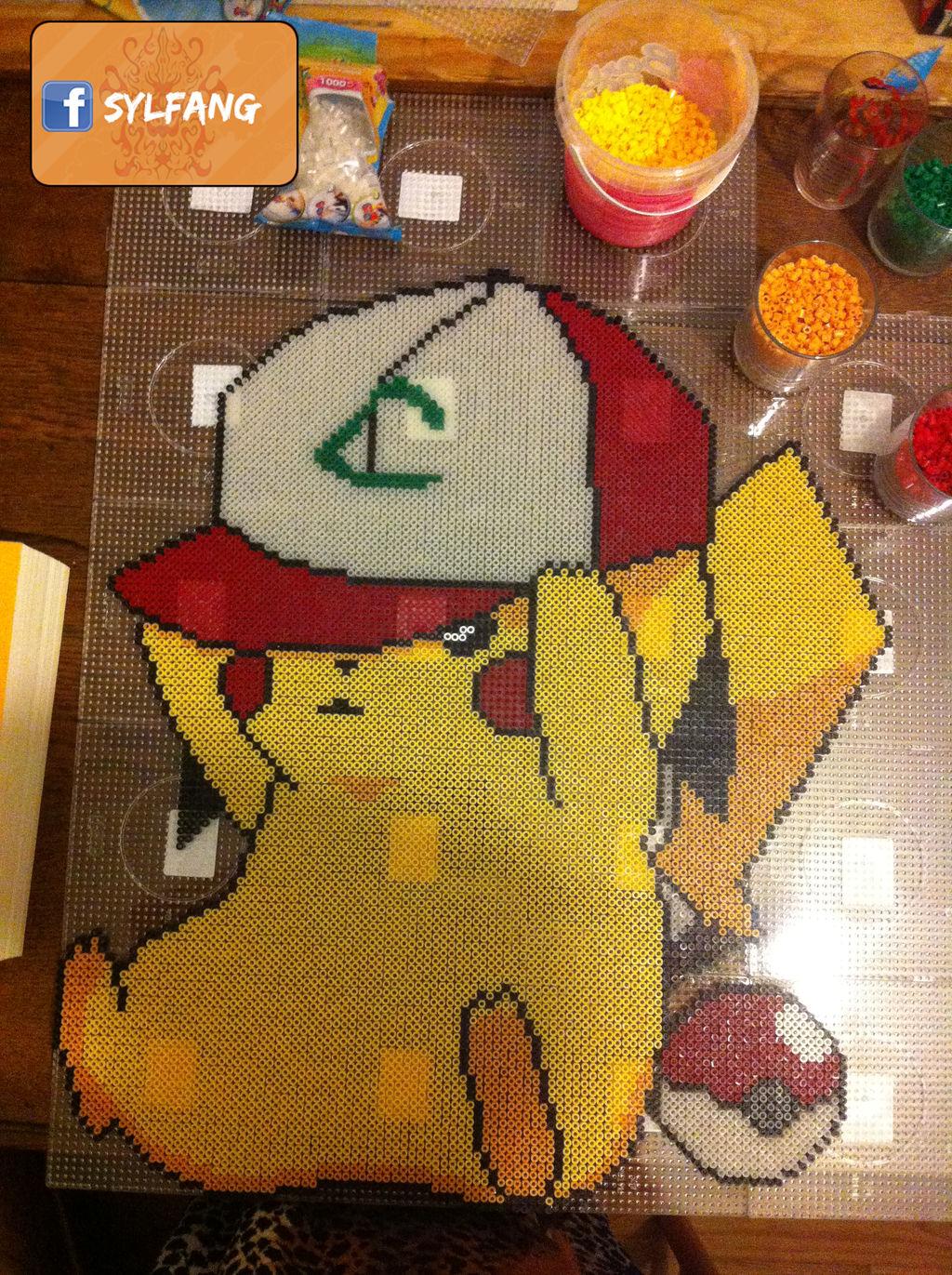 Pikachu Pixel Art Perle Hama By Sylfang On Deviantart