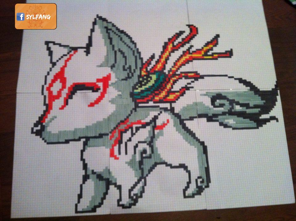 Okami Pixel Art By Sylfang On Deviantart