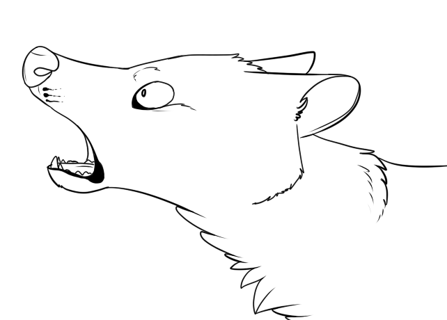 Wolf Lineart : Wolf headshot lineart by starry prince on deviantart