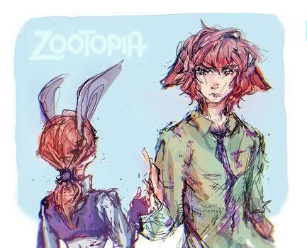 zootopia fanart judy hopps and nick wilde human