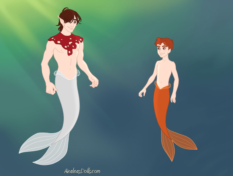 Dodger and Oliver as merpeople by heart8822