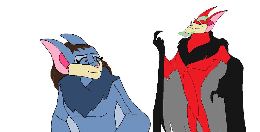 Zora and Tirek as bats by heart8822