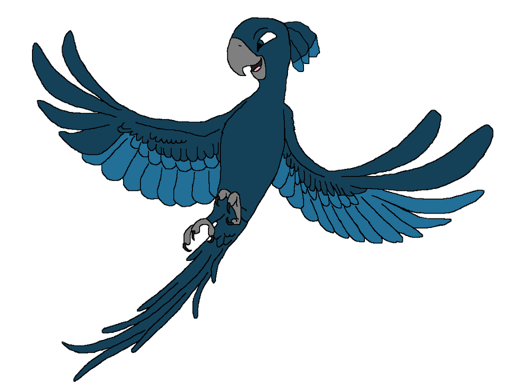 Lumina as a blue macaw by heart8822