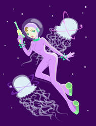 Cosmic Jellyfish Hunt by Nika-N