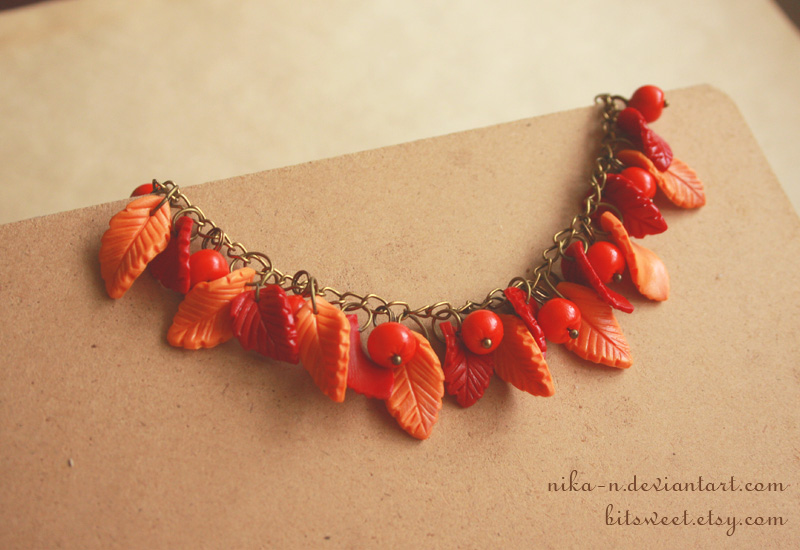 Autumn Rowan bracelet by Nika-N
