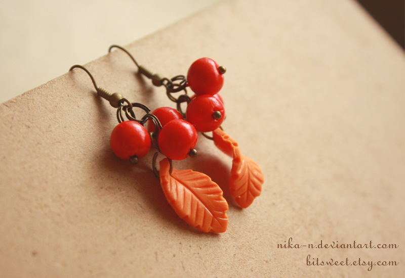 Autumn Rowan earrings by Nika-N