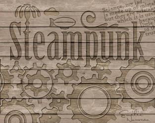 Steampunk Wallpaper by DyanneNova