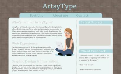 ArtsyType Redesign by DyanneNova