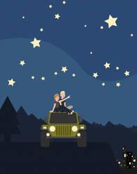 Starry Jeepin' Night by DyanneNova