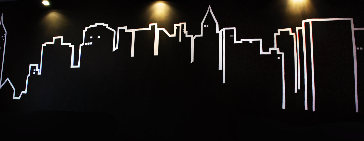 Line Art Mural : Cityscape line art mural by rwhy on deviantart