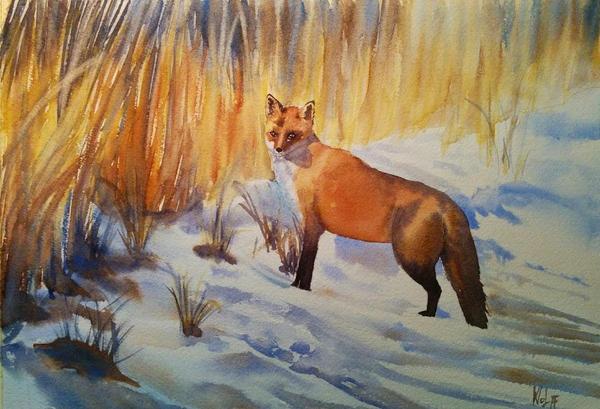 Lisek Na Sniegu by MagdalenaWolff