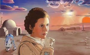 Princess Leia at Tatooine
