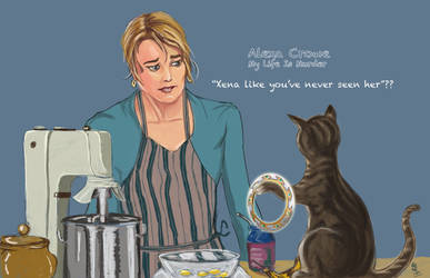 Alexa Crowe and her cat
