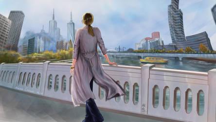 Alexa Crowe on Queen's Bridge