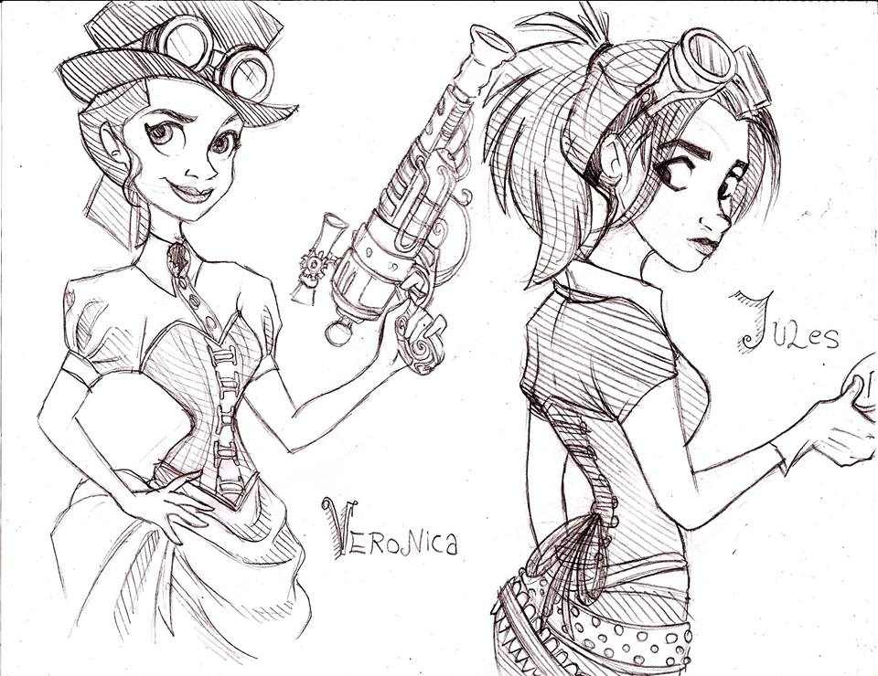 practice (veronica and jules from hullabaloo) by Ari-Cat1998