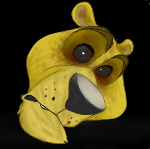golden freddy head by Ari-Cat1998
