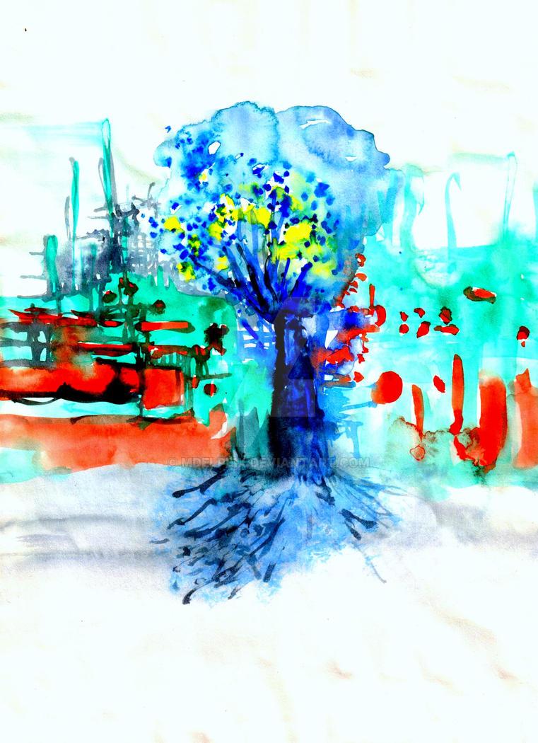 Arbre bleu by mdelpeix